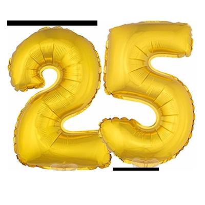 ballon, goud, 25